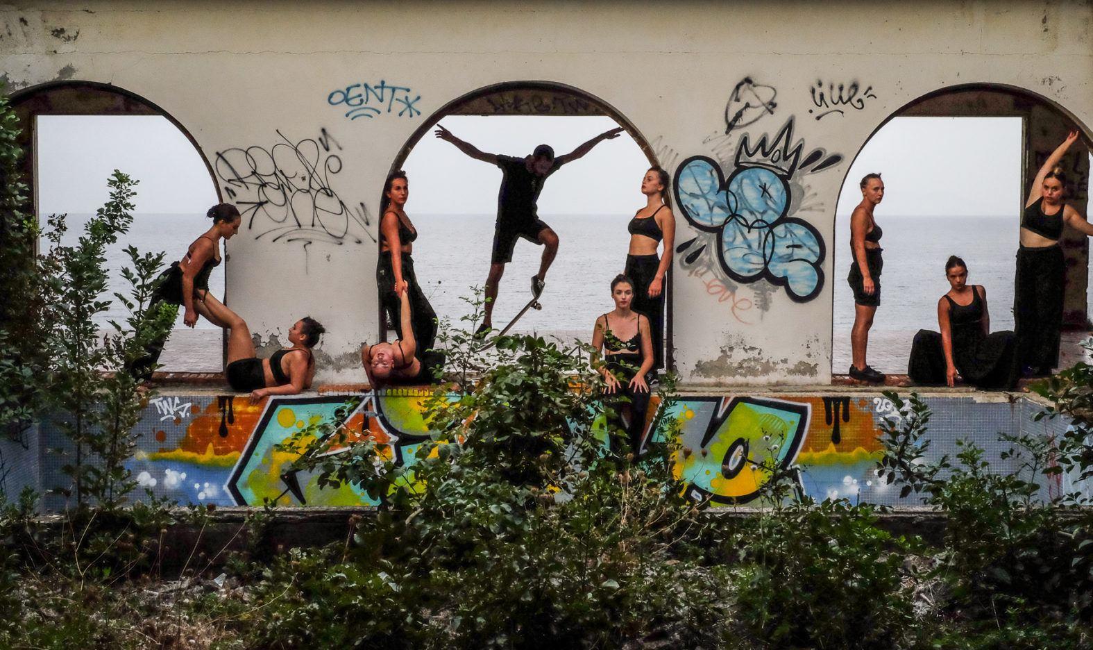 t-shirt noir intense -Skate - UNITE - Graffiti
