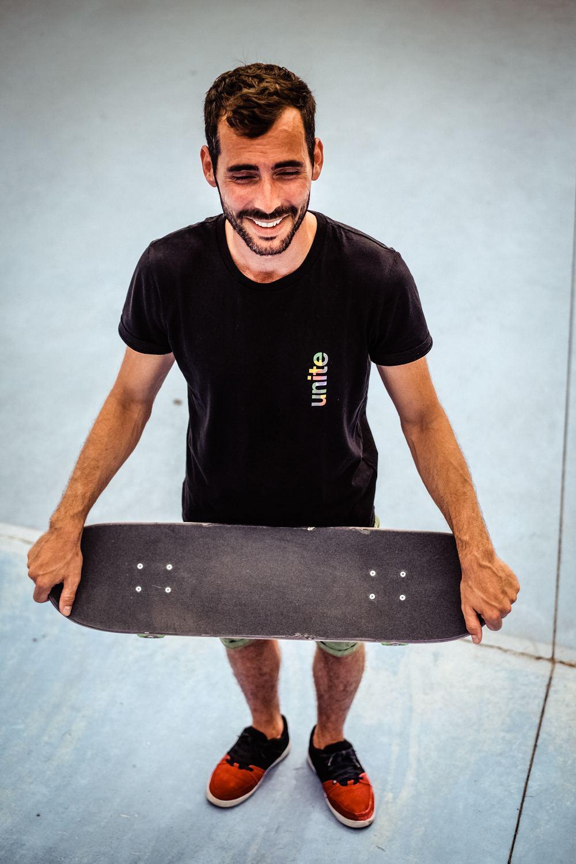 T-shirt noir 100% coton UNITE - skate